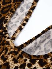 V Neck Sleeveless Animal Print Bodycon Romper