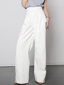 Easy Matching High Waist Wide Leg Trouser For Women