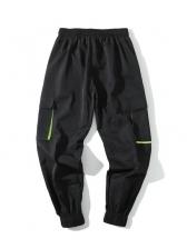 Hot Sale Pockets Black Jogger Pants For Men