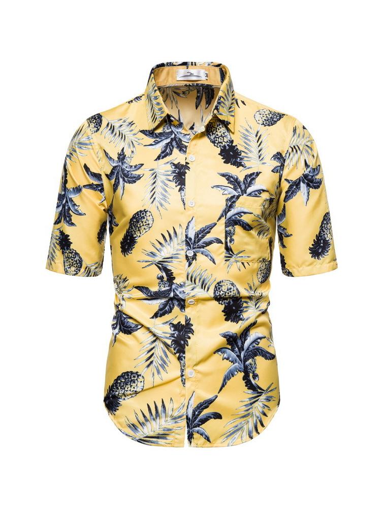 Fashion Leaves Printed Shirts For Men
