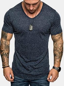 Leisure Dots Short Sleeve Tee Shirts