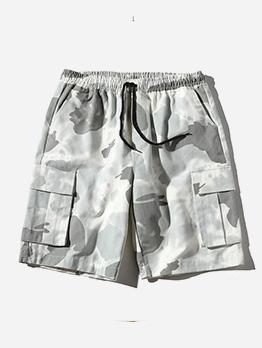 Versatile Camouflage Pockets Men Half Pants