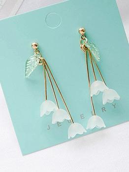Sweet Leaf Petal Earrings Womens Long Earrings