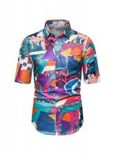 Hot Sale Color Block Short Sleeve Shirt
