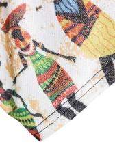 Vintage Printed Short Sleeve Male t Shirt