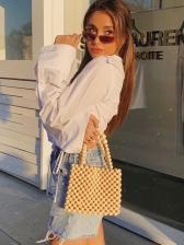 Chic Design Drawstring Long Sleeve White Blouse
