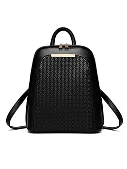 Double Zipper Pure Color Large Backpack For Women