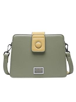 Stitching Color Detachable Belt Square Shoulder Bag