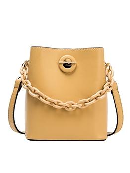Acrylic Chain Pure Color Adjustable Belt 2 Piece Bucket Bags