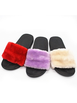 Fur Upper Anti-Skidding Winter Slippers