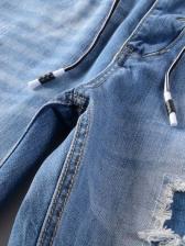 Fashion Pockets Men Ripped Jeans