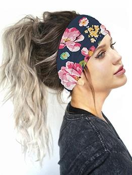 Flower Print Non-Slip Headbands For Women