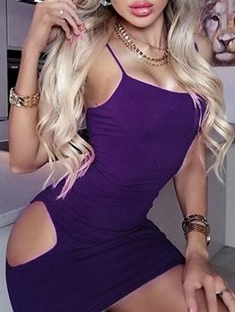 Sexy Cut Out Sleeveless Bodycon Mini Dress