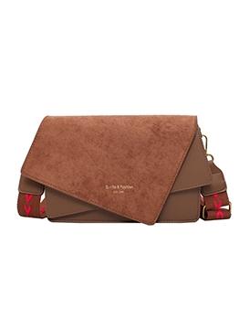 Detachable Wide Strap Irregular Cross Shoulder Bags