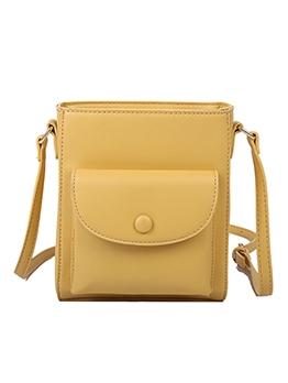 Simple Style Pure Color Adjustable Strap Shoulder Bags