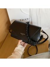 Irregular Design Woven Strap Pure Color Shoulder Bags