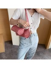 Alligator Print Zipper Pure Color New Arrival Shoulder Bags