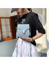Metal Ring Solid Color Versatile Women Crossbody Bags