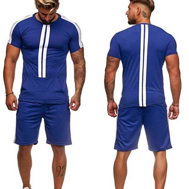 Leisure Contrast Color Mens Activewear