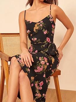 Summer Flower Printed Slip Ladies Dresses