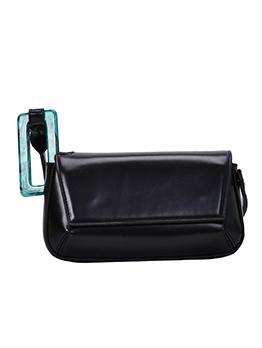 Plastic Buckle Short Strap Pure Color One Shoulder Bags