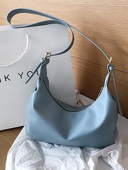 Adjustable Belt Pure Color Ladies One Shoulder Bags
