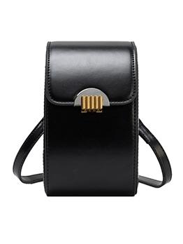 Metal Hasp Solid Color Adjustable Strap Phone Bags