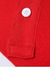 Color Block Short Sleeve Mens Polo Shirts