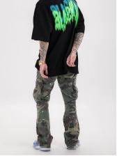 Hip-Pop Pockets Drawstring Camouflage Pants