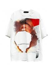 Crew Neck Contrast Color Printed t Shirt Design