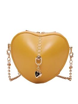 Heart Shape Double Zipper Cute Mini Shoulder Bags