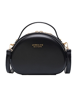 Double Zipper Pure Color Crossbody Bags With Handle