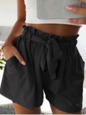 Summer High Wiast Stringy Selvedge Wide Leg Short Pants