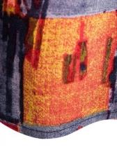 Vintage Color Block v Neck t Shirts