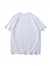 Simple Solid Short Sleeve t Shirt