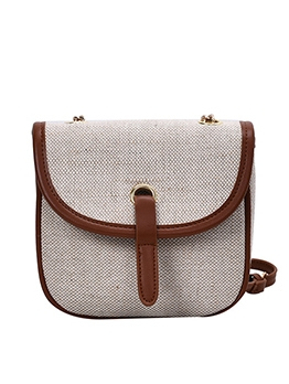 Colored Edges Casual Women Chain Crossbody Bags