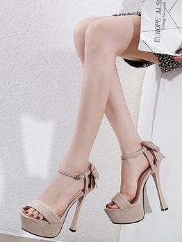 Stylish High Platform Bowknot Summer Sandals