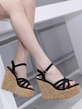 Hot Sale Patchwork Wedge Sandals