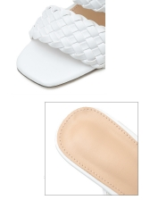 Euro Solid Woven High Heel Slippers