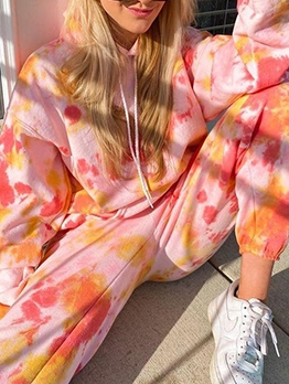 Colorful Loungwear Long Sleeve Two Piece Sets