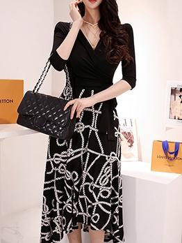 Trendy Patchwork Printed Maxi Dresses