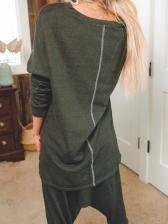 Summer Pure Color Loungwear Two Piece Pants Set