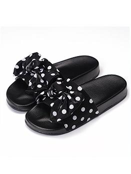Summer Polka Dot Bow Slides Slippers