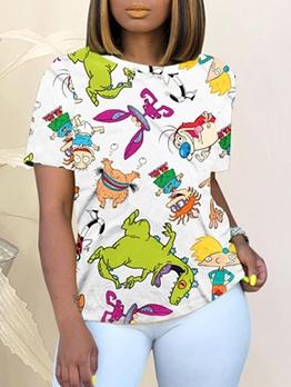 Hot Sale Short Sleeve t- Shirt Tie Dye Casual