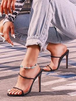 Trendy Slip On Stiletto Heel Womens Slippers