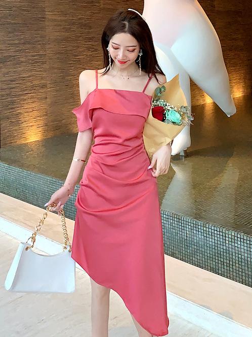 Elegant Irregular Trim Slip Summer Dresses