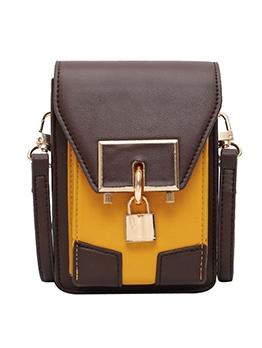 Metal Lock Stitching Color Casual Mini Crossbody Bags