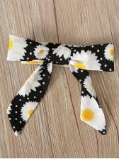 Flare Sleeve Daisy Print Romper For Girl