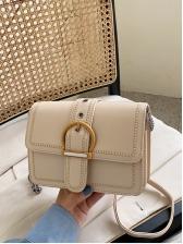 Buckle Design Square Shape Chain Shoulder Bags