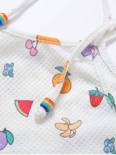 Colorful Fruits Printed Casual Two Piece Short Set